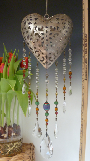 Beautiful Heart Votive Lantern- Tribal Theme