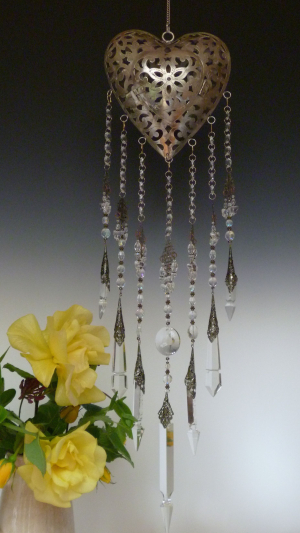 Vintage Chandelier points -Crystal Clear theme Heart lantern